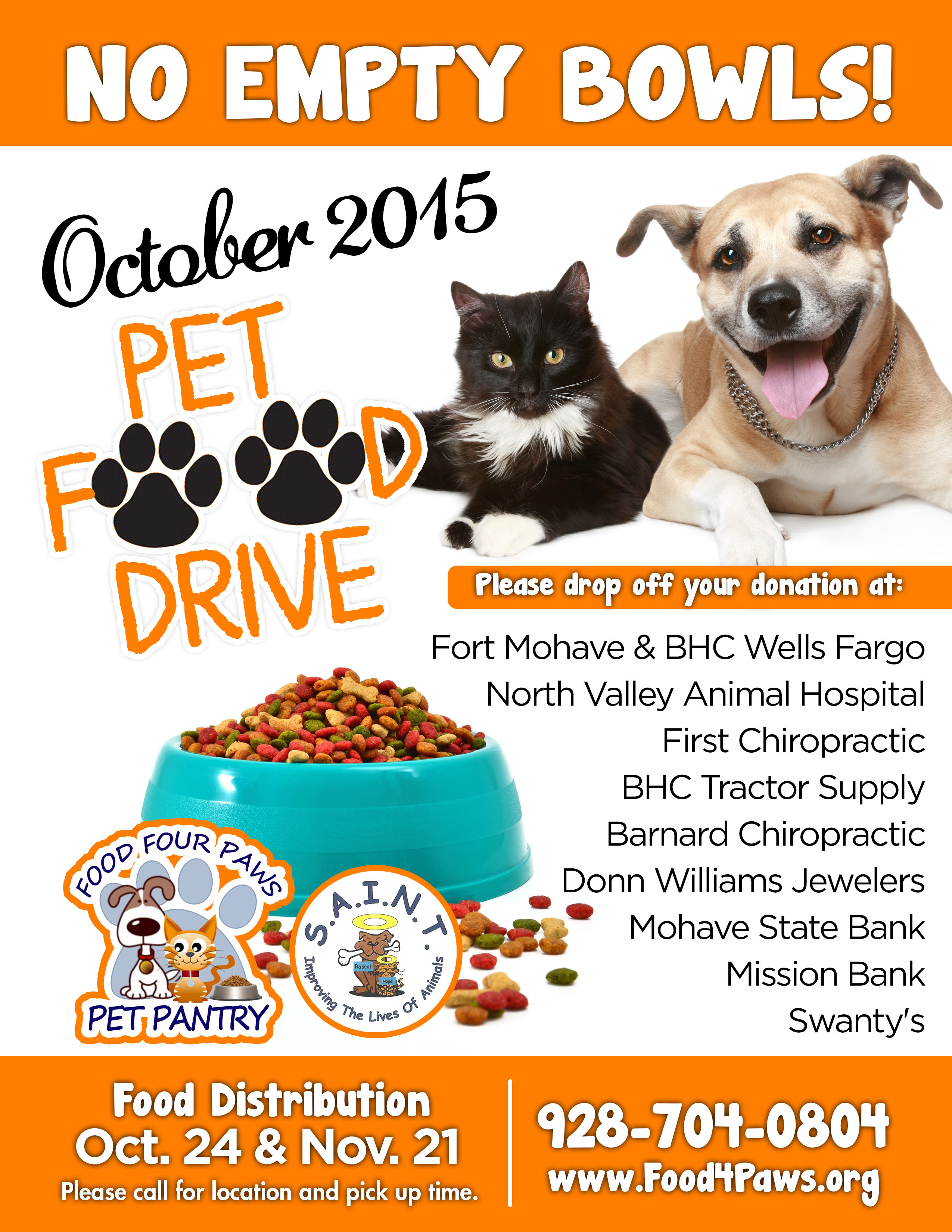 Pet Food Drive Flyer Template